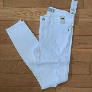 Abercrombie & Fitch Shredded White Skinny Jeans